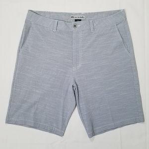 Travis Mathew Micro-striped Shorts 36